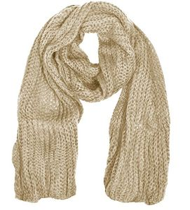 Peach Couture Warm and Cozy Unisex Chunky Hand Knit Long Scarf