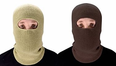 Warm Knit Winter Ski Snowboard Cold Weather Face Mask Balaclava (One Size, Taupe/Brown)