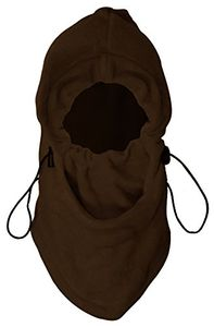Brown Warm Plush Multipurpose Snowboard Ski Face Mask Hat