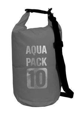 Grey Waterproof Dry Pack Bag-Roll Top Dry Compression Sack Keeps Gear Dry for Kayaking, Beach, Rafting, Boating, Hiking, Camping and Fishing 15 L