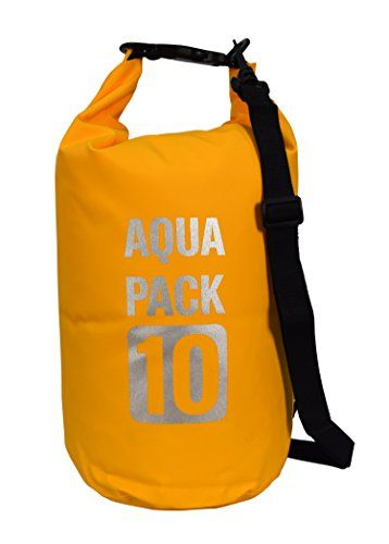 Waterproof Dry Pack Bag-Roll Top Dry Compression Sack Keeps Gear Dry for Kayaking, Beach, Rafting, Boating, Hiking, Camping and Fishing Mango