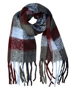 Winter Warm Casual Knitted Chunky Wrap Scarf with Tassels