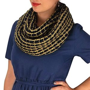 Navy Gold Weave