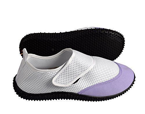 White Women's Athletic Durable Quick Dry Aqua Socks Beach Water Shoes