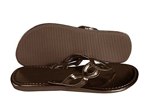 Brown Women's Braided Strap Thong Sandal Slip On Summer Classic Shoes
