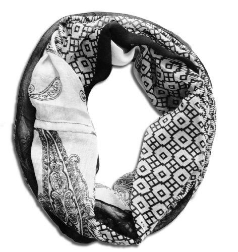 Women's Henna Print Infinity Loop Scarves (Multi-Color)