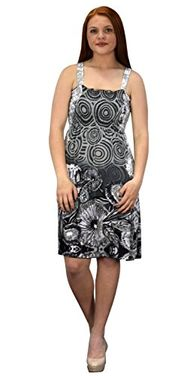 Women's Knee Length Multicolor Exotic Smocked Printed Summer Dress Floral Grey White