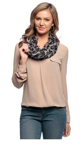 Purple Retro Fashion Two Tone Animal Print Infinity Loop Scarf