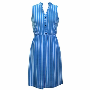 Earn Your Chic Stripes Dress in Blue