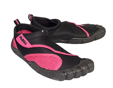 Black Fuchsia Womens Athletic Shoes Sports Water Shoes Beach Wear Slip ONS