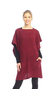 Peach Couture Womens Fall Winter Button Sweater Front Pockets Cape Wrap Poncho