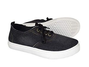 Ebony Womens Distressed Denim Casual Shoes Slip on Sneakers