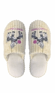 Beige Fleece Lined Relaxing Nordic Style House Slippers