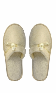 Beige Fleece Lined Relaxing Nordic Style House Slippers Beige Solid