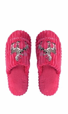 Fuchsia Fleece Lined Relaxing Nordic Style House Slippers