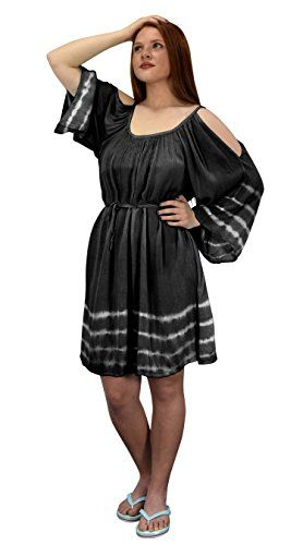 Womens Flutter Sleeve Waist Belt Tie Cold Shoulder Sun Dress Cover Up