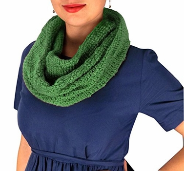 Peach Couture Womens Glamorous Chic Warm Knitted Winter Snood Infinity Loop Scarf