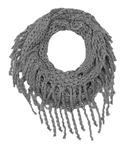 Gorgeous Cozy Winter Knitted Square Pattern Infinity Loop Scarf