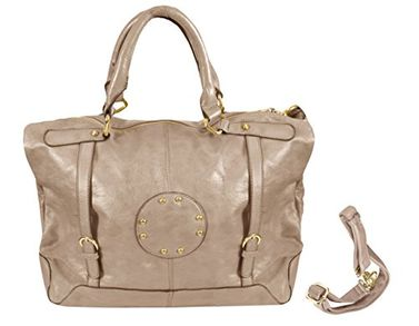 Peach Couture Womens Handbags with Metal Studded Embellishments and 3-in-1 handles