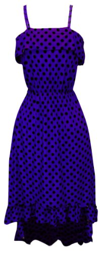 Yes You Can-Can Ruffle Dress in Violet & Black