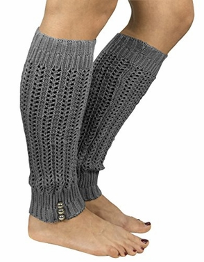 Peach Couture Womens Knitted Crochet Ribbed Cable Knit Long Leg Warmers