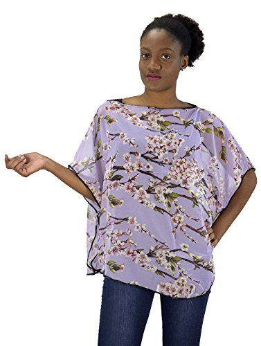 Lavender Womens Loose Silhouette Shrug Poncho Cover up Top