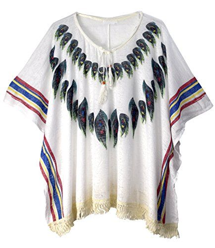 Women's Peacock Light Weight Summer Poncho Cardigan Cover up