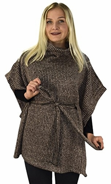 Womens Relaxed Fit Marled Chunky Knit Pullover Sweater Ribbed