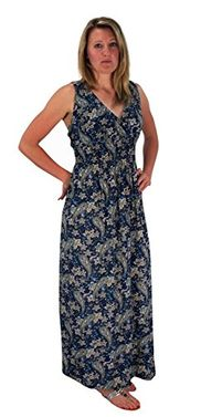 Olive Womens Sleeveless Exoctic Floral Print Plus Size Maxi Dress Navy 3X