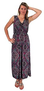 Red Womens Sleeveless Exoctic Floral Print Plus Size Maxi Dress
