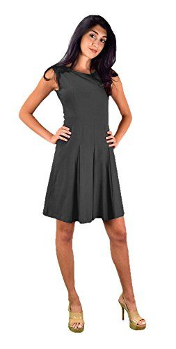 Grey Summer Cotton Pleated Sleeveless Princess Seam Dress (Medium)
