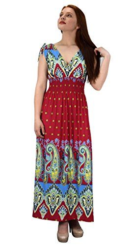 Peach Couture Womens Summer Exotic Floral Bohemian Tahiti Sleeveless Maxi Dress Polka Dot Fuchsia Turquoise