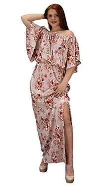 Mauve Womens Summer Gypsy Bohemian Vintage Floral Long Maxi Dress