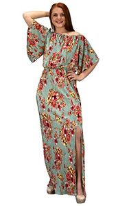 Mint Womens Summer Gypsy Bohemian Vintage Floral Long Maxi Dress