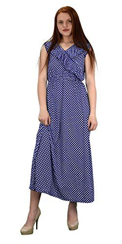 Summer Polka Dot Sleeveless Casual Cocktail Long Maxi Dress