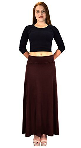 Women's Summer Printed Variety Fold Over Long Jersey Maxi Skirt X-Large