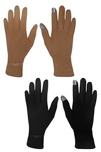 Womens Touch Screen Winter Gloves Warm Wear Belted 2 Pack