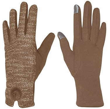 Marled Womens Touch Screen Fleece Lined Winter Warm Gloves