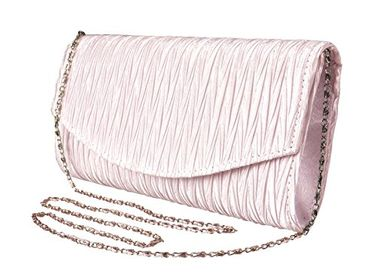 Women's Vintage Satin Pleated Envelope Evening Cocktail Wedding Party Handbag Clutch