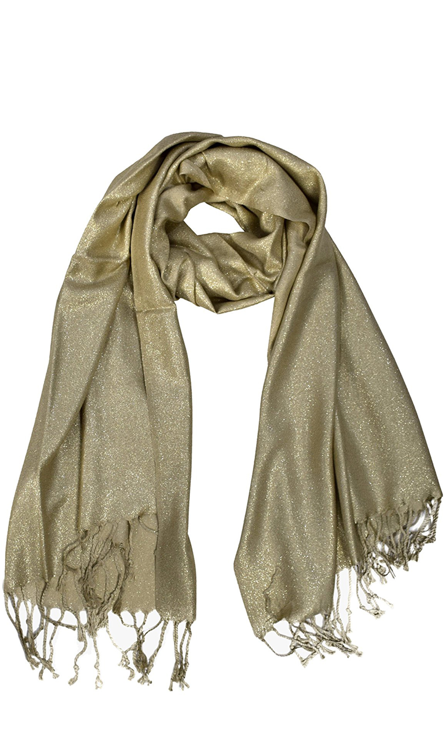 0602f757aea Gold Princess Shimmer Scarf Pashmina Shawl with Fringes