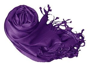 Purple Pashmina Shawl Wrap Scarf