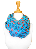 Retro Animal Print Loop Scarf