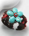 Turquoise Sea Shell Stretchable Bracelet