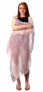 Ice Lavender Sheer Drape Bathing Suit Cover Up Tunic Top Swim Dress