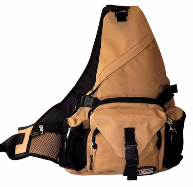 Khaki Single Strap Sling Travel Comfort Hiking Compartment Backpack (Regular)
