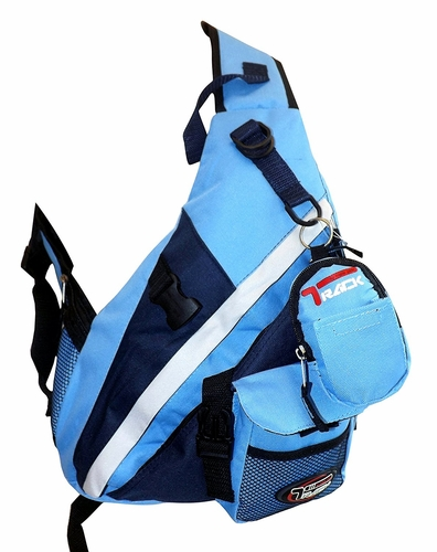 Baby Blue Single Strap Sling Travel Comfort Hiking Compartment Backpack (Small)