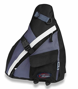 Black/Grey Sling Backpack Single Strap School Travel Sports Shoulder Backpacks Bag - Urban Gear (S)
