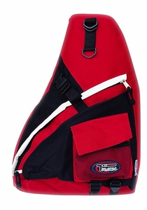Single Strap Sling Travel Comfort Hiking Compartment Backpack (Regular, Red/Grey)