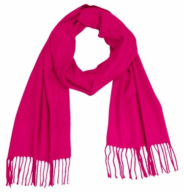 Fuchsia Cashmere Feel Light Unisex Scarf