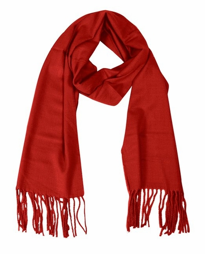 Red Cashmere Feel Light Unisex Scarf